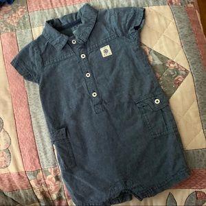 Carters Blue Denim Shortall Outfit. 12 mons